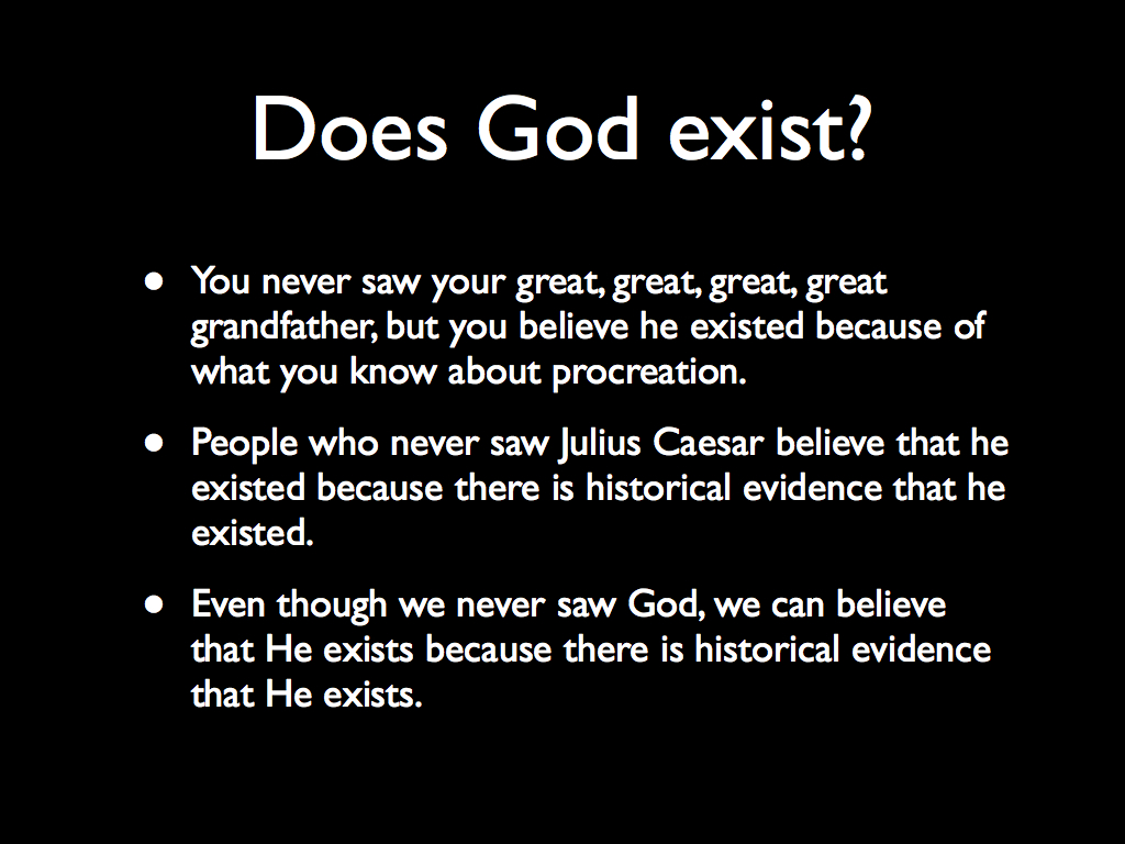 does god exist argument essay Essay on does god exist if existence is viewed in this light then the ontological argument fails this is because a logical argument that arrives at the conclusion.